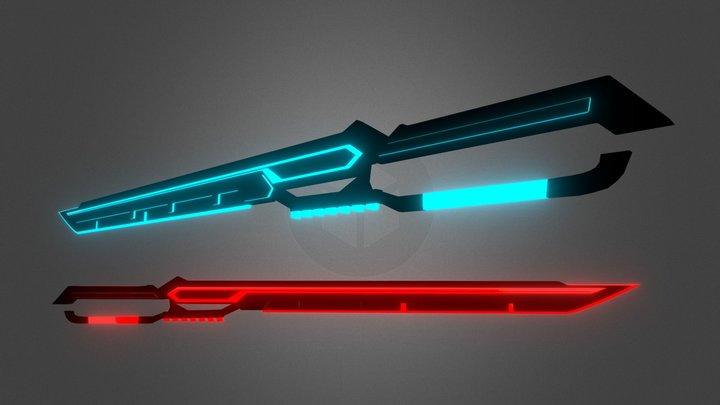 BeatSaber Custom Saber   Athena's Blade (BLPS) 3D Model