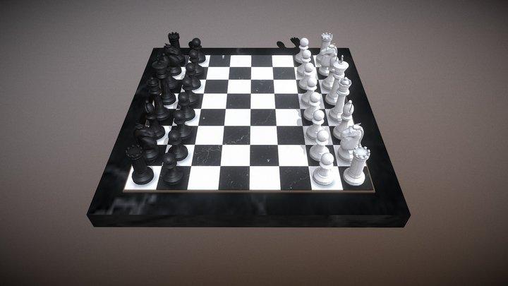 Boris Spassky Vs Robert James Fischer Game 3 3D Model