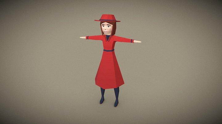 Red Riding Hood - Film Noir 3D Model