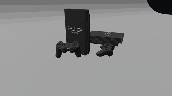 PlayStation 2 3D Model