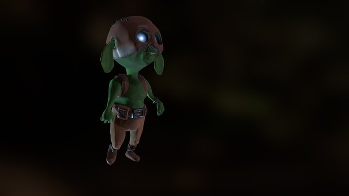 Cute Orc 3D Model