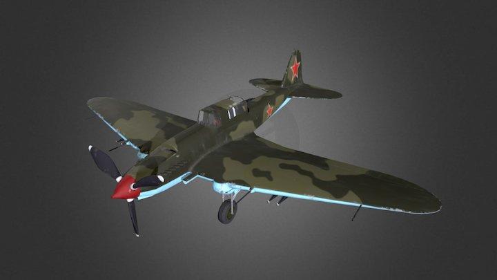 Low Poly IL-2 3D Model