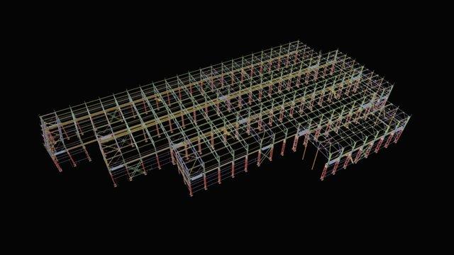 Цех по производству металлоконструкций 3D Model