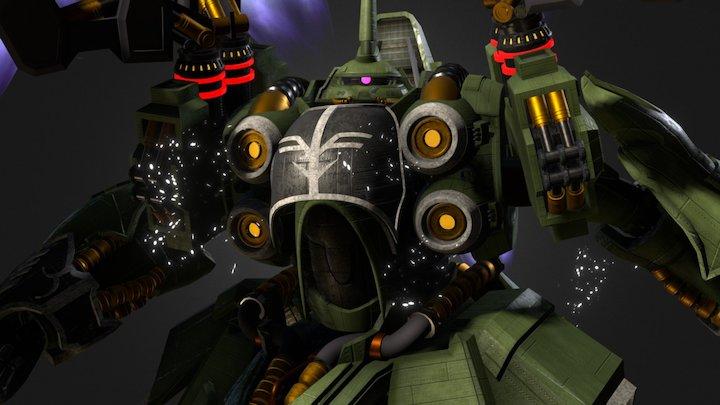 NZ 666 Kshatriya Gundam 3D Model