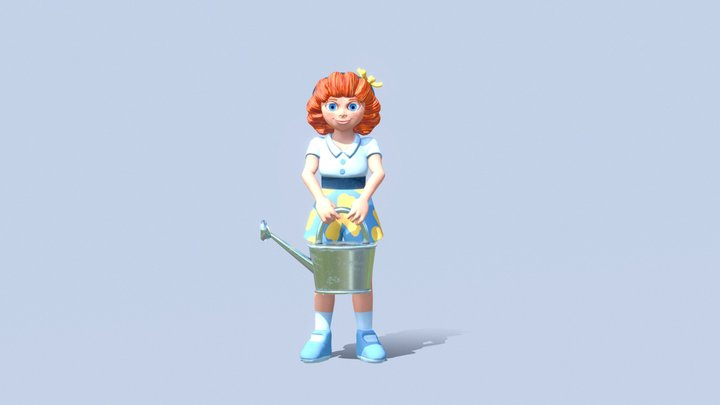 Little Girl 3D Model