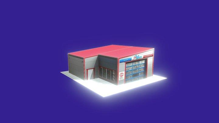 GENIUS Autowaschhalle für Portalwaschanlagen 3D Model