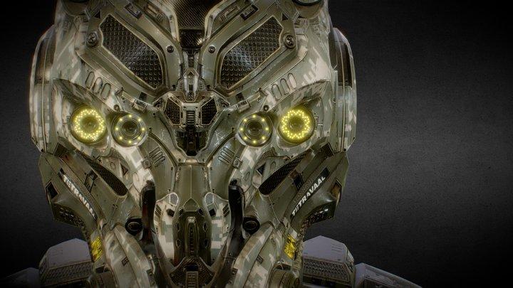 SCI-FI HELMET - WAR SOLDIER - Jonathan BENAINOUS 3D Model