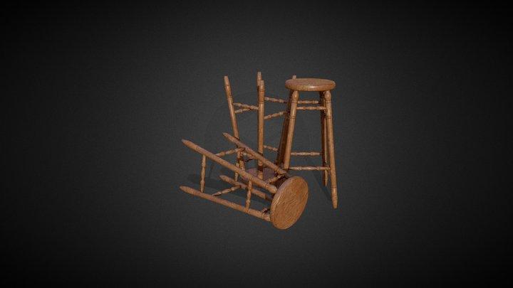 Tavern Round Chair 3D Model