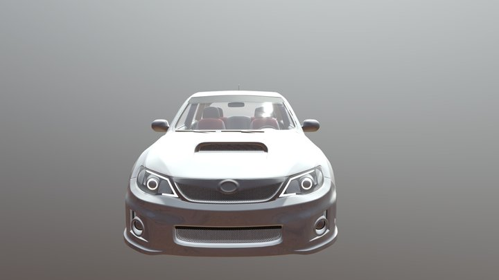 Subaru 1.2 (Wireframe only) 3D Model