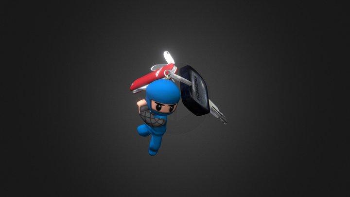 [Nin] Keychain Ninja 3D Model