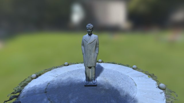 Estátua Teixeira de Pascoaes - Parque dos Poetas 3D Model