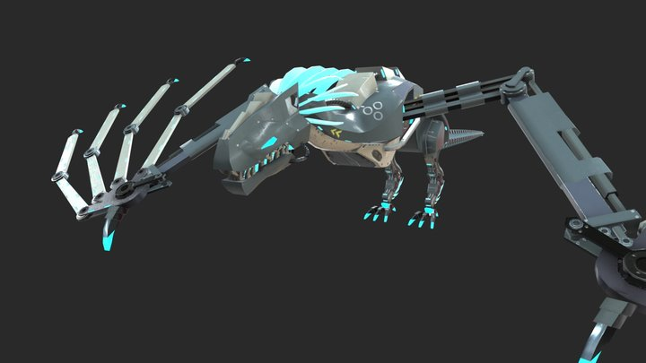 Mech-Dragon 3D Model