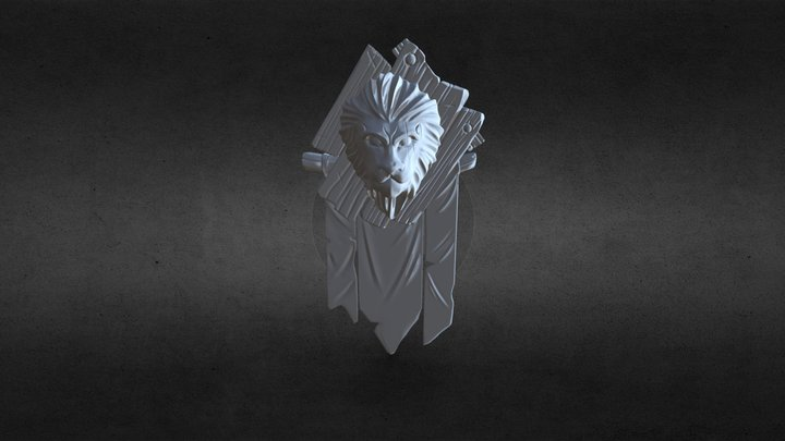 Lion Headv1 3D Model