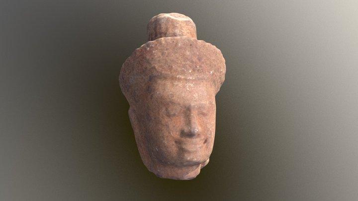 Sandstone head showing Shiva 3D Model
