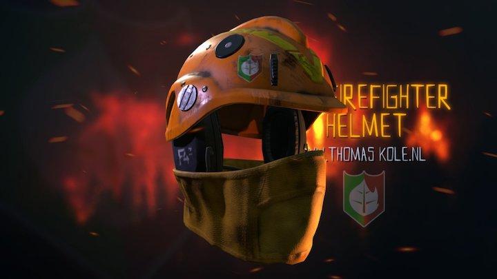PBR Firefighter Helmet 3D Model