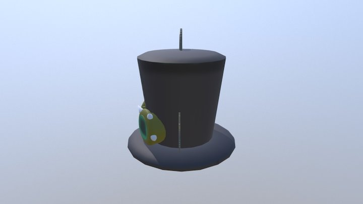 Low-Poly Steampunk series 2/6: Top Hat 3D Model