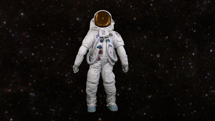 United States Spacesuit (Lunar Mode) 3D Model