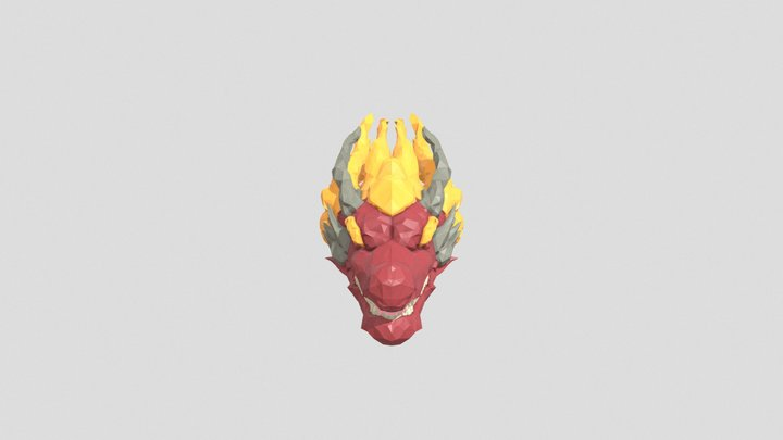 Low Poly Chinese Dragon 3D Model