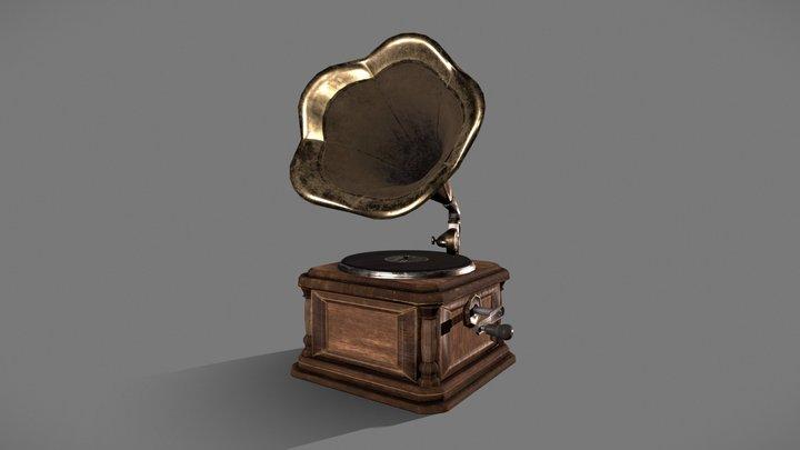 Vintage Phonograph / Gramophone 3D Model