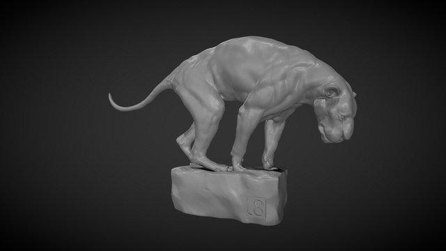 Big Cat POSE 01 2 3D Model