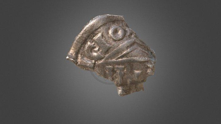 Carolingian coin / Moneda carolingia 3D Model
