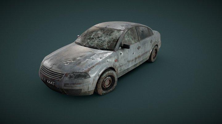 Car Wreckage Test 3D Model