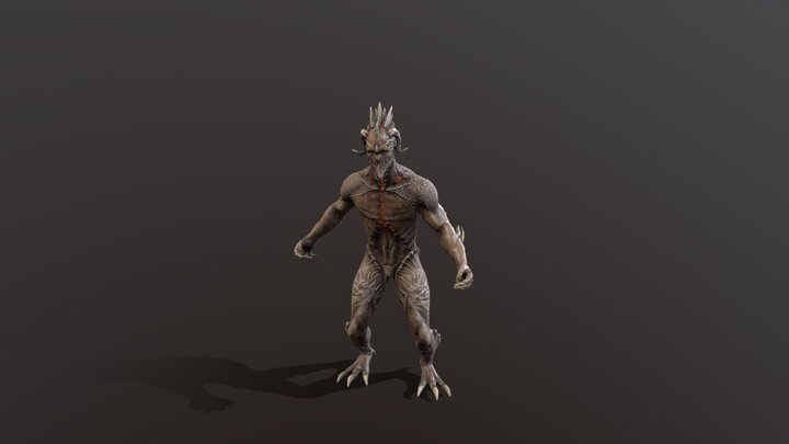 Drakonit Monster 3D Model