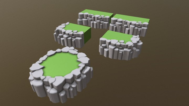 Block Style Cliff   (Free Download) 3D Model