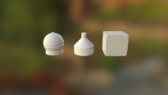 Cube Cone Sphere 3D Model
