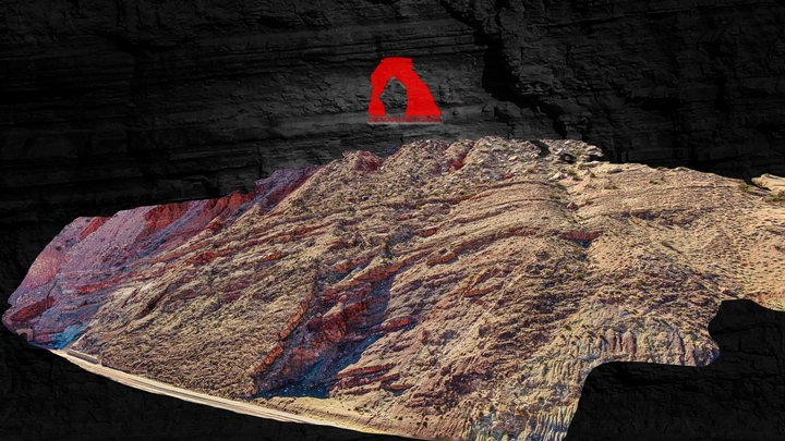 Railroad Splay - Moab Fault 3D Model