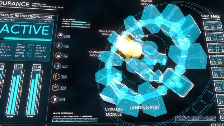 Interstellar : Endurance (with sound) 3D Model