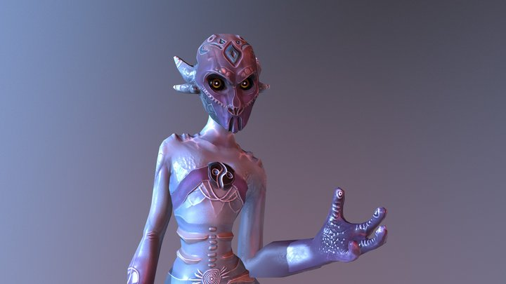 [test] ALBIREO - IDLE 3D Model