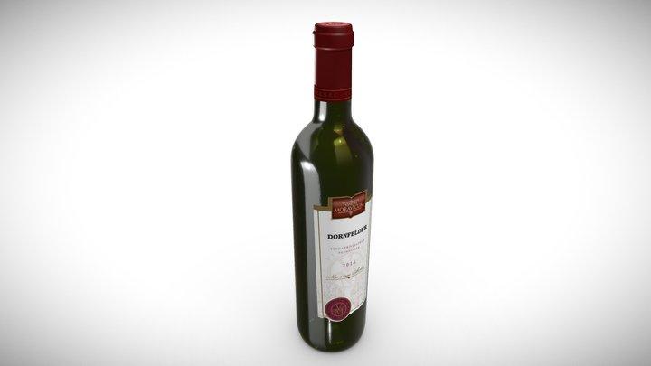 Bottle of Wine Dornfelder 3D Model
