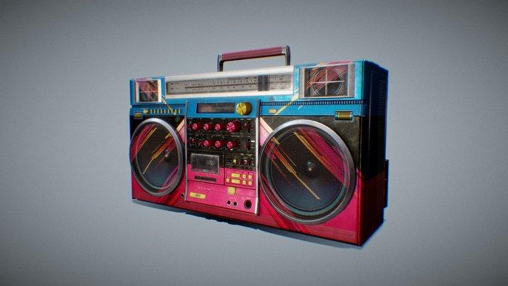 Boombox JVC RC-M90JW 3D Model