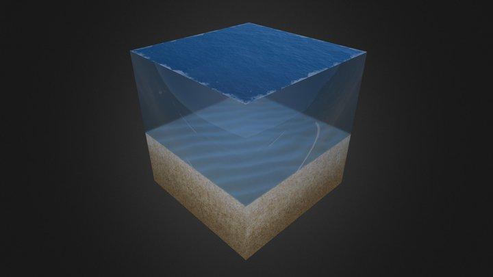 Isometric Undersea Cube 3D Model
