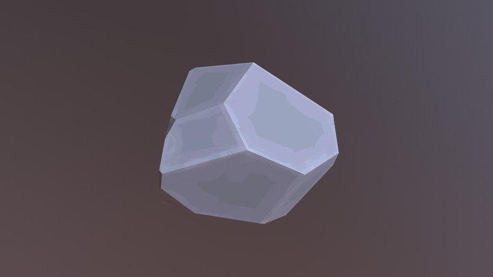 Stylized lowpoly rock 3D Model