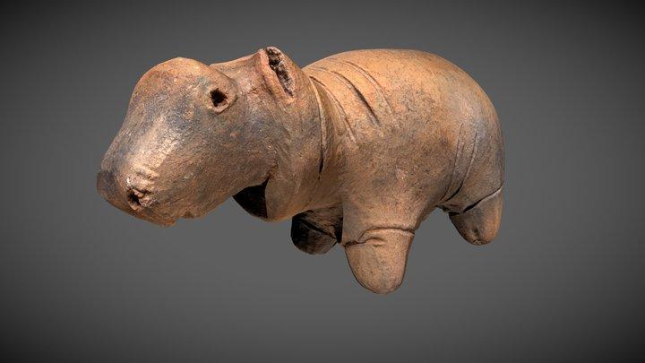 Clay Hippo 3D Model