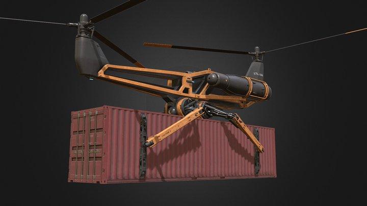 Cargo Drone 2 3D Model