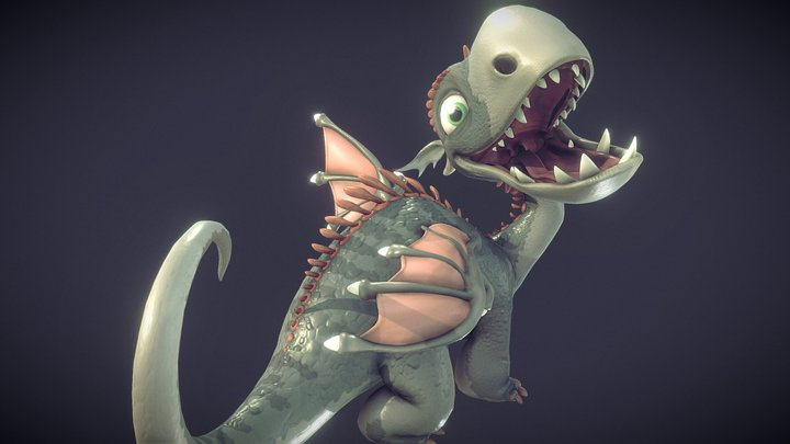 Lil Dragon Model and Rig 3D Model