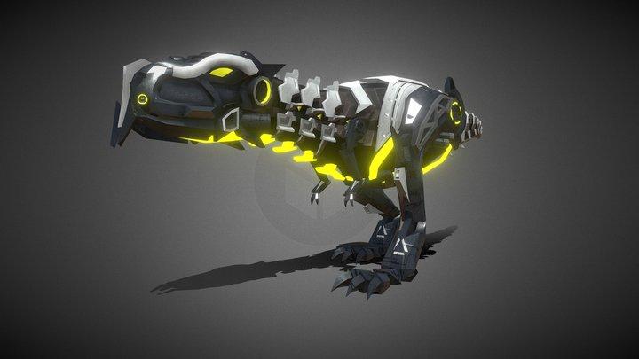 T-Rex (Walk Cycle, Run Cycle, Idle) WIP 3D Model
