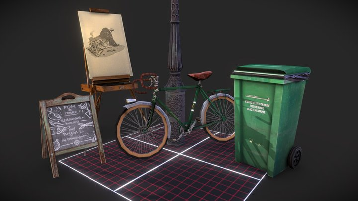 Streets of Montmartre prop preview 3D Model