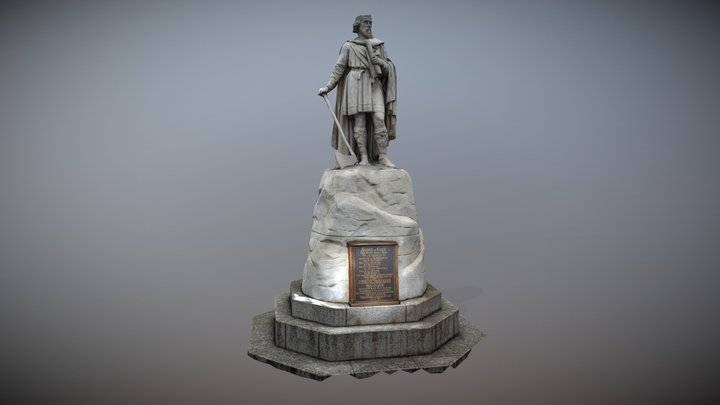 King Alfred Statue 3D Model