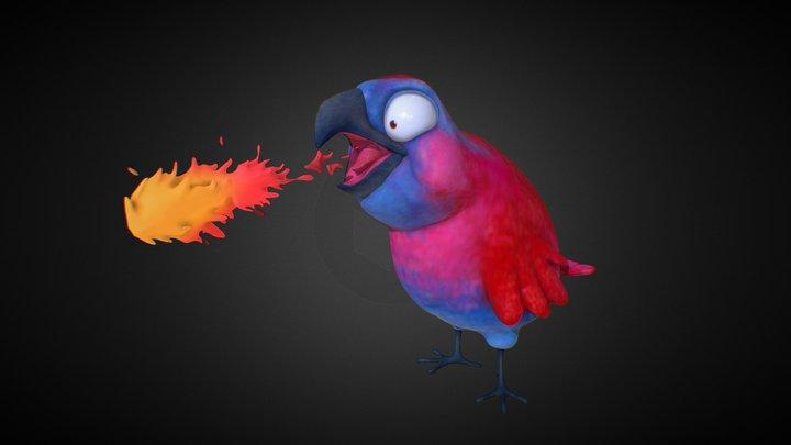 Fire Parrot 3D Model
