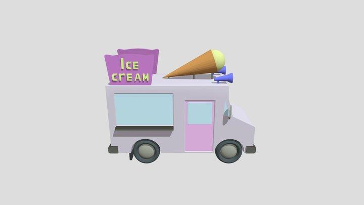 Ice Cream Van 3D Model