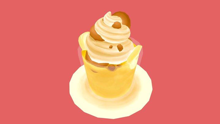 Banana Pudding Parfait 3D Model