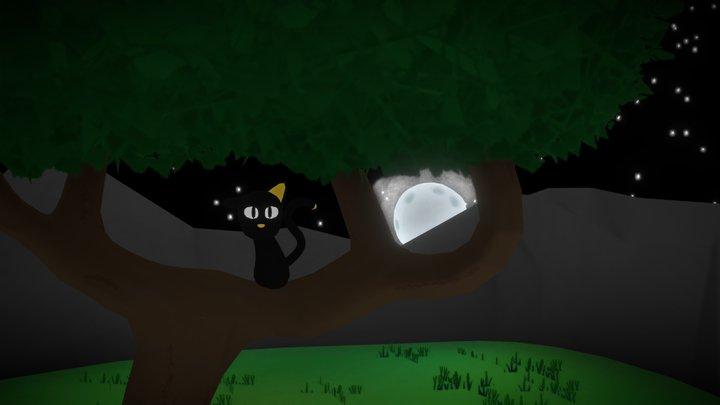 Moonlit Valley 3D Model