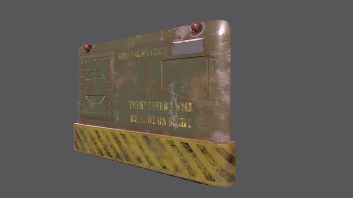 Military Barricade 3D Model