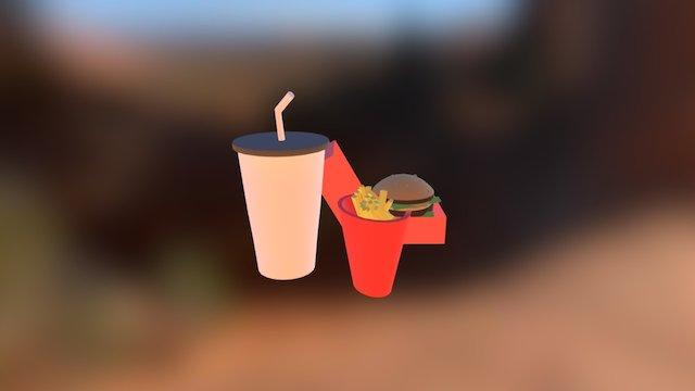 Basic Burger Meal 3D Model