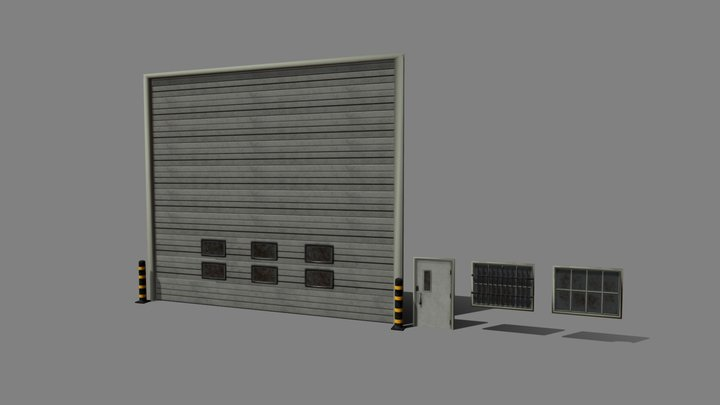 Doors Windows Kit Set Up 3D Model