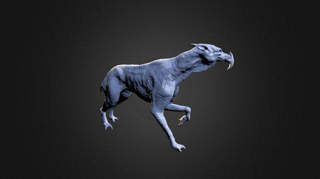 Alien dog - daggerpaw doodle 3D Model